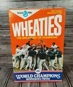 Vintage Wheaties Box 1987 Minnesota Twins World Champions Empty/Opened