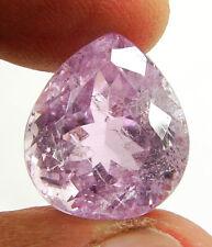 19.95 Ct Certified Natural Kunzite Spodumene Loose Gemstone Pear Stone - 134651
