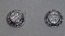 NEW *AWESOME* ZALES Jewelers Sterling Silver Round Diamond Earrings