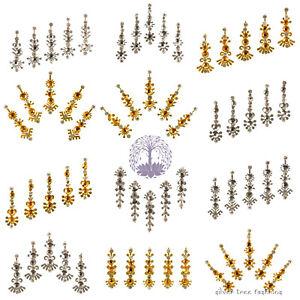 1 pack of GOLD METALIC Indian DIAMANTE Bridal FESTIVAL Crystal TIKKA Bindi JEWEL