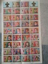 AJMAN STATE  Bloc feuillet 34 timbres +2labels : Rois et Reines de FRANCE C189
