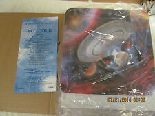 Star Trek Ncc-1701-D Limited Edition Plate #3886A Original Box and Coa