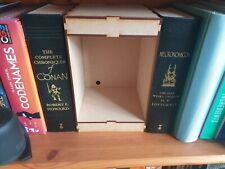 Wide Book nook kit. DIY  space for led lights 24 H  x 16.5 D x 15 cm W. 3mm MDF.