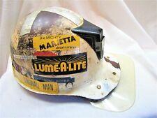 Vtg Fiberglass Msa Miners Hat~Helmet~Liner~Stickers ~Ray Kopka