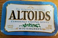1.76oz Tin Altoids Wintergreen Candy, Curiously Strong Mints, for TIN due to exp