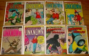 Lot of 8 ACG comics ADVENTURES Into the UNKNOWN, FORBIDDEN WORLDS all 10¢ covers