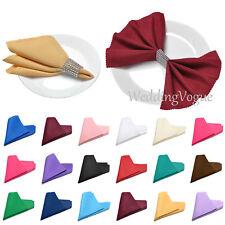 "50 Linen Polyester Napkins Serviettes Cloth Tableware Wedding Party 12"" X12"""