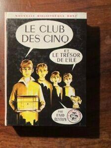 Enid BLYTON/LE CLUB DES CINQ ET LE TRESOR DE L'ILE BIBLIOTHEQUE ROSE HACHETTE