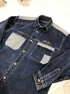 Phat Farm VTG Men's Blue Jean Jacket XL Classic Look
