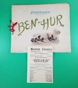 1900 Ben-Hur Souvenir Album & Bonus Boston Theatre Playbill – Rare