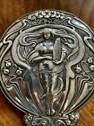 Art Nouveau Solid Silver Dressing Table Mirror 11insx6. Silver Marks