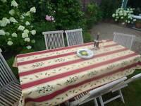 Tischdecke Provence 150x240 cm rot sand Oliven aus Frankreich, pflegeleicht