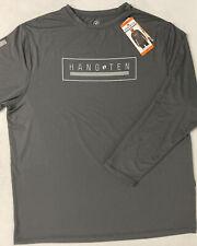 New listing Hang Ten Mens Long Sleeve Sun Shirt Tee GREY SPF50 QuickDry XXL Lightweight READ