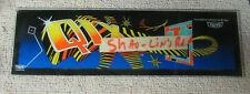 22 5/8-6 3/4 ORGINAL taito qix glass sign marquee ARCADE VIDEO GAME PART FL-3