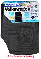 Streetwize Heavy Duty Premium Tailored Carpet Rubber Car Floor Mats Volkswagen