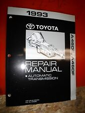 1993 TOYOTA PREVIA AUTOMATIC TRANSMISSION FACTORY SERVICE MANUAL A46DE A46DF