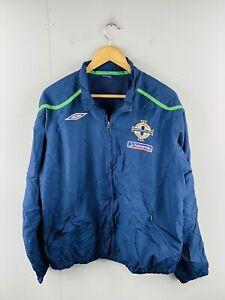 Umbro Northern Ireland Football Team Men's Vintage Full Zip Jacket Size XL Blue