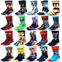 Men's Socks Cartoon Anime Star Wars Super Hero Novelty Breathable Cotton Socks