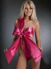 NEW LADIES ANN SUMMERS UNWRAP ME PINK BODY DRESS UP SEXY SATIN TIE + FREE GIFT !