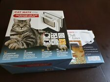 Cat Mate Elite Microchip Cat Flap with Timer Control Plus Cat Mate Wall Liner