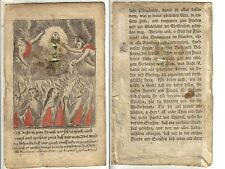 Spickelbild Wallfahrt Fegefeuer Andacht  Barock 18. Jhr. Spitzenbild
