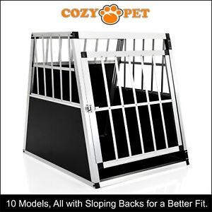 Aluminium Car Dog Cage Cozy Pet Travel Puppy Crate Pet Carrier Transport ACDC03