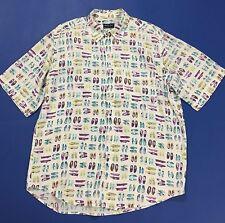 Webb scott camicia uomo XL usata shirt espadrillas estiva manica corta T1906