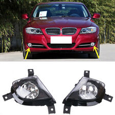For BMW E90 E91 328i 335i 09-11 Front Bumper Replace Clear Fog Lights Lamps Pair