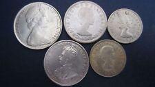Lot Silber Australien 5 Stück Schilling bis 2 Florin in s+ bis vz (14)