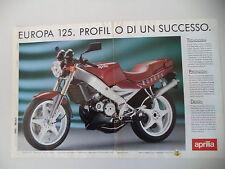 advertising Pubblicità 1990 APRILIA EUROPA 125