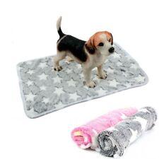 SOFT COSY WARM FLEECE PAW PRINT PET BLANKET DOG PUPPY ANIMAL CAT BED