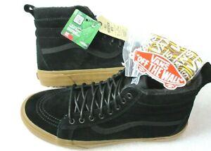 Vans Mens Sk8-Hi Mte All Weather Suede Skate Boots Classic Black Gum Size 9.5