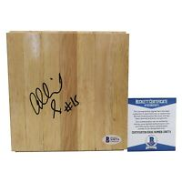 Allisha Gray Autograph Signed Basketball Floor Board Beckett BAS Cert Proof COA