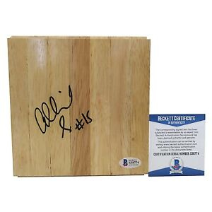 Allisha Gray Dallas Wings Signed Basketball Floor Floor Board Beckett BAS Proof