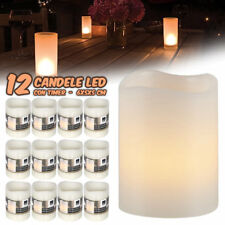 12 CANDELE A LED IN CERA SENZA FIAMMA BIANCO CALDO CON TIMER SET CANDLE EMOTION