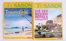 GEOSaison Zeitschriften 2x von 2012 Die 100 besten Hotels / Traumziele