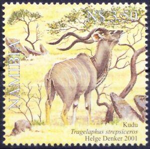 Namibia 2001 MNH, Kudu, Antelope, Deer, Wild Animals