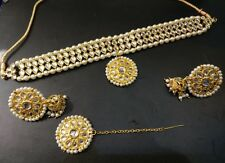 Bollywood Traditional kundan Choker Style Latest Necklace Jewelry Sets V144045