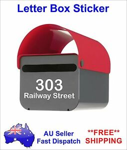 Letter box Custom Address Vinyl Sticker Post box street number name decal 2 sets