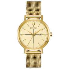 BRAND NEW Bulova Women's Classic Quartz Gold Tone Mesh Bracelet Watch 97M115