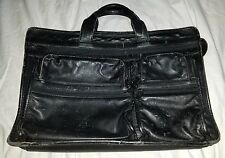 TUMI BLACK LEATHER BRIEFCASE BAG