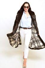 VINTAGE MINK FUR COAT LONG FEMALES BLACK MAHOGANY - HOPKA CLASS OF SAGA M - L