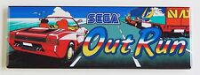 Out Run Marquee FRIDGE MAGNET (1.5 x 4.5 inches) arcade video game header
