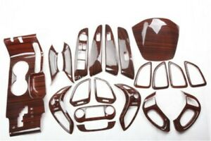 Peach Wood Grain Car Interior kit Cover Trim For HYUNDAI IX35 2010-2017