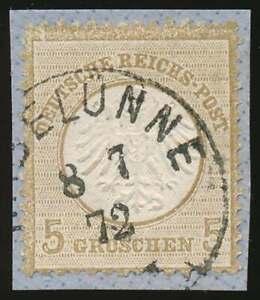 D.Reich Nr. 6 gestempelt/Briefstück mit K1 HASELÜNNE 8 7 72 (69471)