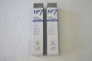 2x No 7 Lift and Luminate Triple Action Eye Cream 15 mL/ 0.5 fl oz  NEW