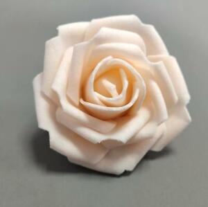 50Pcs Large 7CM Artificial Flower Foam Rose Heads Fake Wedding Party Bouquet UK