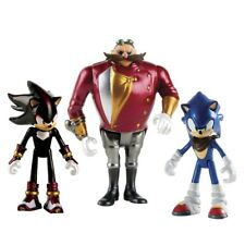 Sonic, Shadow & Dr Eggman (Sonic the Hedgehog Boom) 3 Inch Figures - Brand New!