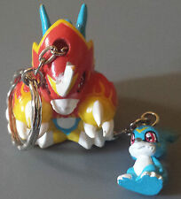 Rare Japanese Banpresto Digimon Veemon Flamedramon Keychain Charm