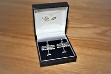 Tiger Moth Solid Sterling Silver Stud Earrings by Clivedon